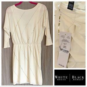 NWT WHBM White/Silver Dress